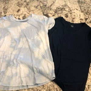 Women's pocket tee lot of 2 a.n.a.